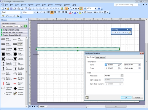 Visio timeline template informit for Visio project timeline template