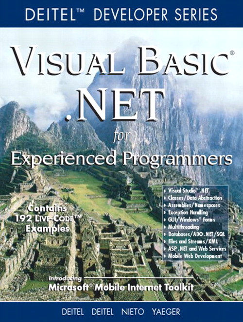 Visual Basic .NET For Experienced Programmers