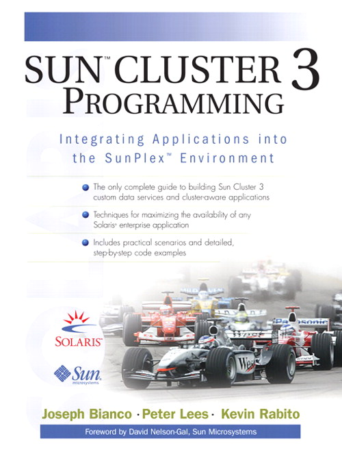 Sun  Cluster 3 Programming: Integrating Applications into the SunPlex  Environment