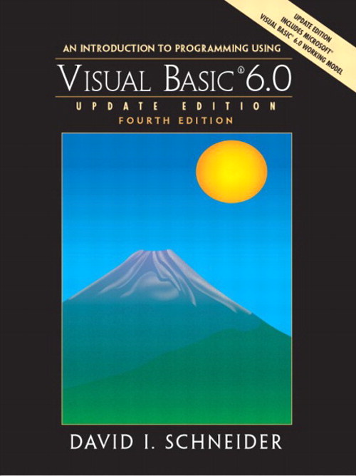 Introduction to Programming with Visual Basic 6.0, Update Edition, An, 4th Edition
