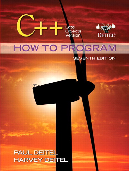 C++ How to Program: Late Objects Version, 7th Edition