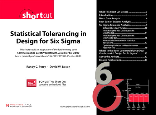 Statistical Tolerancing in Design for Six Sigma (Digital Short Cut)