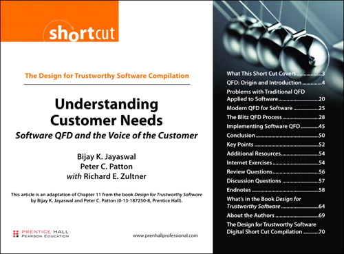 Understanding Customer Needs (Digital Short Cut): Software QFD and the Voice of the Customer