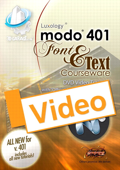 modo Text and Font Courseware, Streaming Video