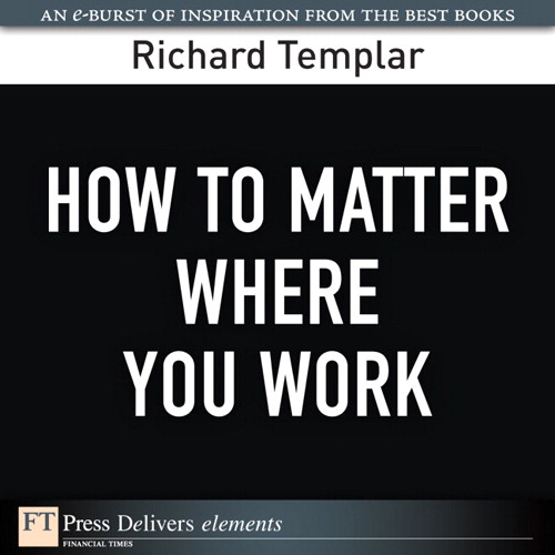 How to Matter Where You Work