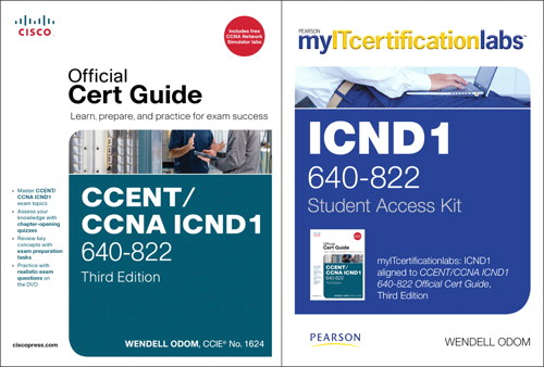 CCENT/CCNA ICND1 MyITCertificationlab 640-822 Official Cert Guide Bundle