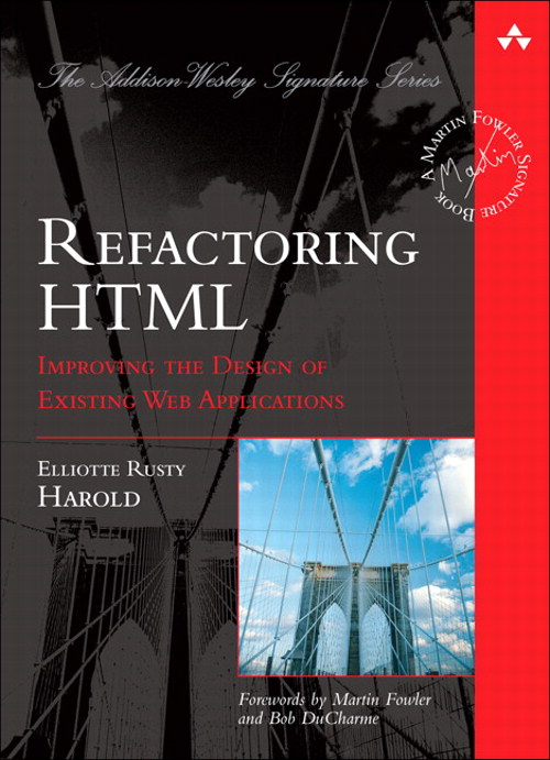 Refactoring HTML: Improving the Design of Existing Web Applications