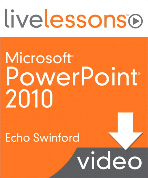 PowerPoint 2010 LiveLessons Lesson 10: Working with Charts, Downloadable Version