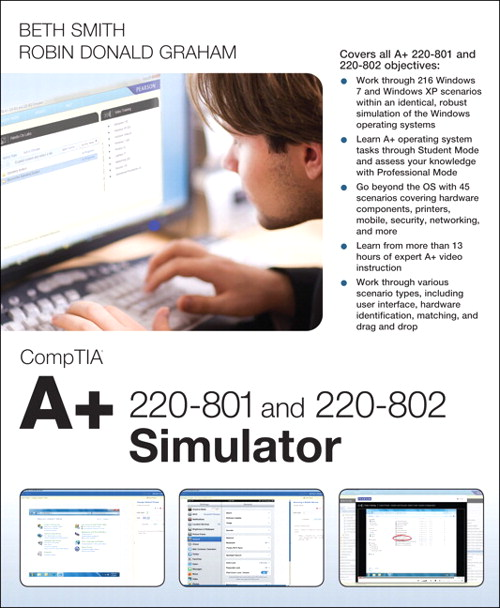 CompTIA A+ 220-801 and 220-802 Simulator, Downloadable Version