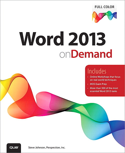 Word 2013 on Demand