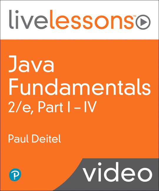Java Fundamentals LiveLessons Parts I, II, III, and IV (Video Training): Lesson 2: Introduction to Java Applications, Downloadable Version, 2nd Edition
