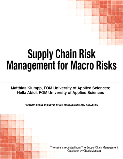 Supply Chain Risk Management for Macro Risks