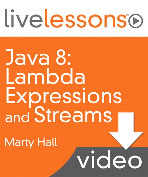 Java 8: Lambda Expressions and Streams LiveLessons (Video Training), Downloadable Video