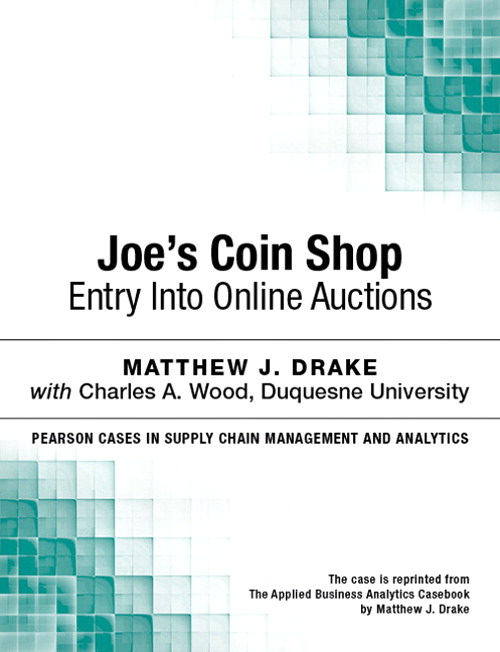 Joe's Coin Shop: Entry into Online Auctions