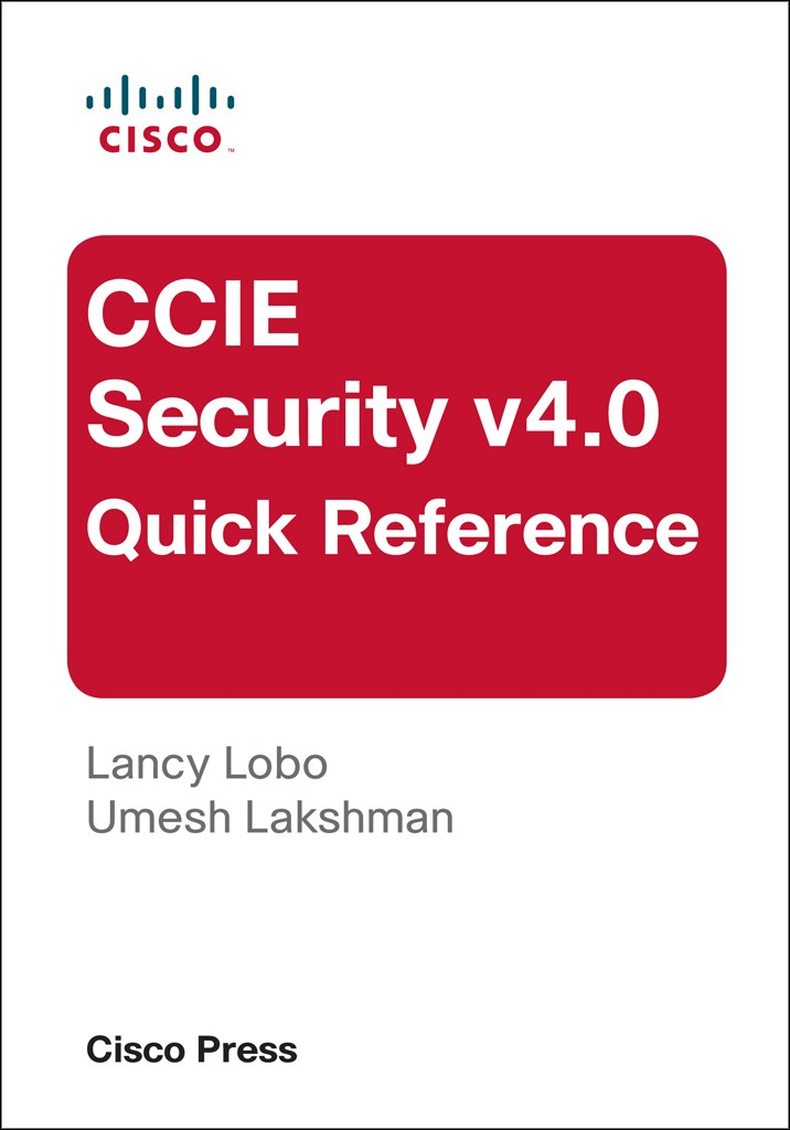 CCIE Security v4.0 Quick Reference, 3rd Edition