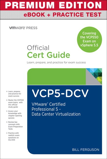 VCP5-DCV Official Certification guide (Covering the VCP550 Exam) Premium Edition and exercise Test, 2nd Edition