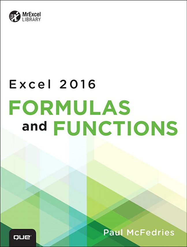 Excel 2016 Formulas and Functions (includes Content Update Program)