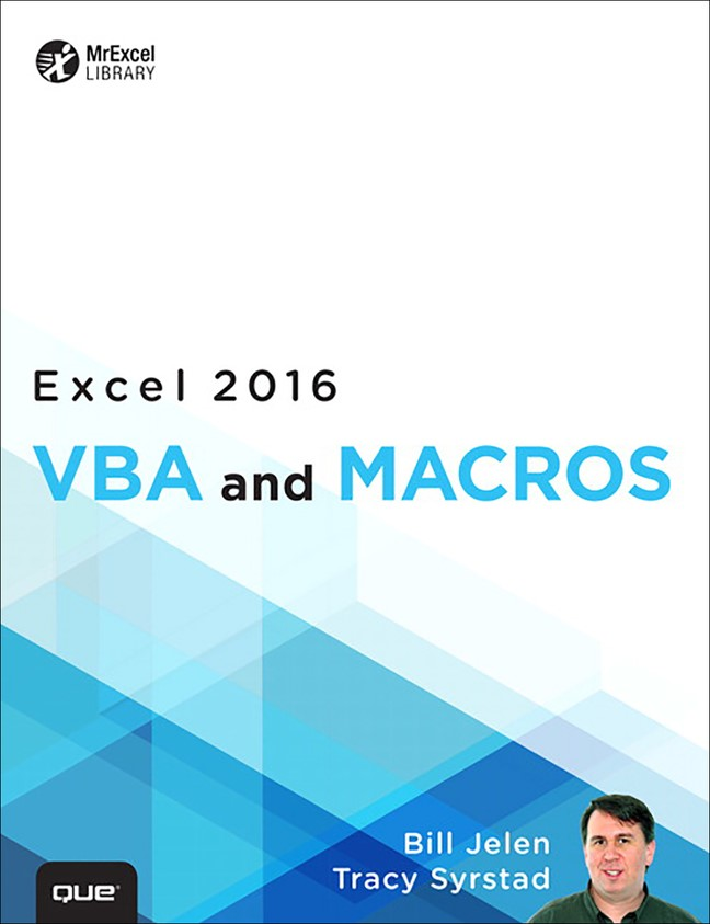 Excel 2016 VBA and Macros (includes Content Update Program)