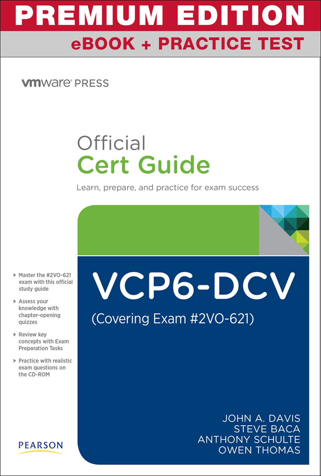 VCP6-DCV Official Cert guide (Exam #2V0-621) Premium Edition and exercise Test, 3rd Edition