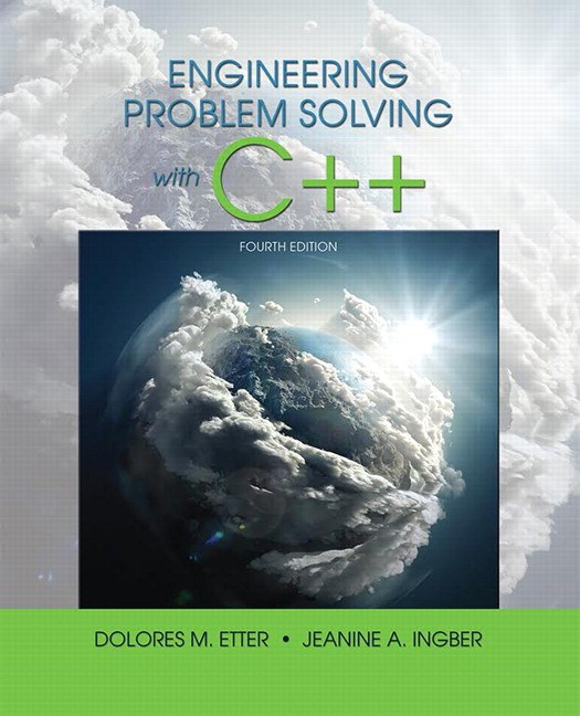 Engineering Problem Solving With C++, 4th Edition