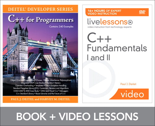 C++ Fundamentals I and II LiveLesson Bundle