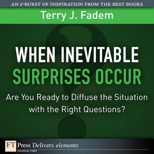 When the Inevitable Surprises Occur. . .  Are You Ready to Diffuse the Situation with the Right Questions?