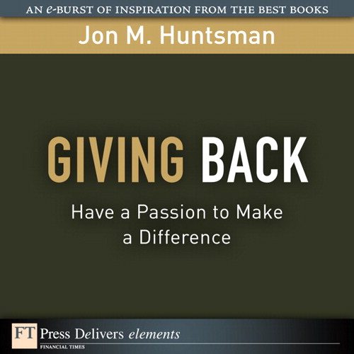 Giving Back: Have a Passion to Make a Difference