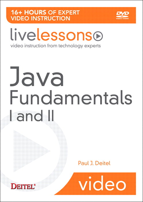 Java Fundamentals I and II LiveLesson (Video Training)