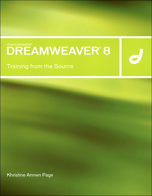 Macromedia Dreamweaver 8: Training from the Source