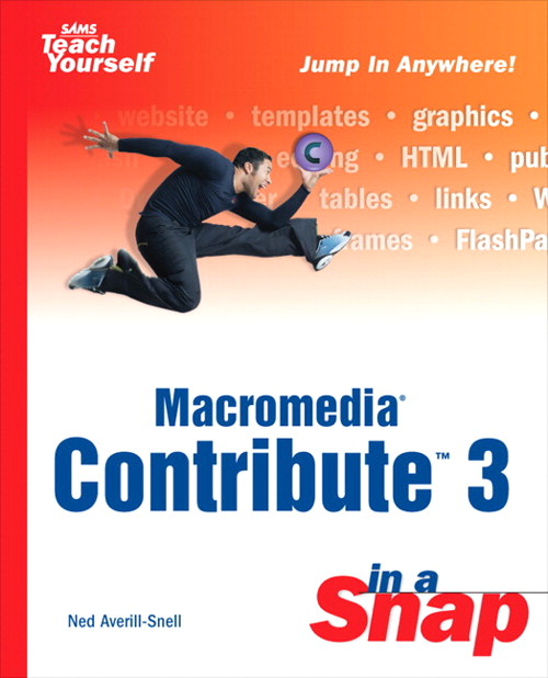 Macromedia Contribute 3 in a Snap