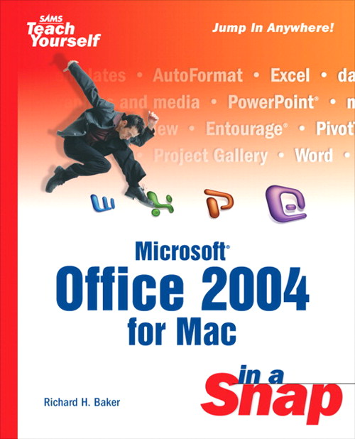 Microsoft Office 2004 for Mac in a Snap