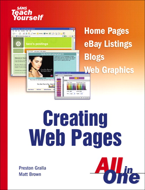 Sams Teach Yourself Creating Web Pages All in One