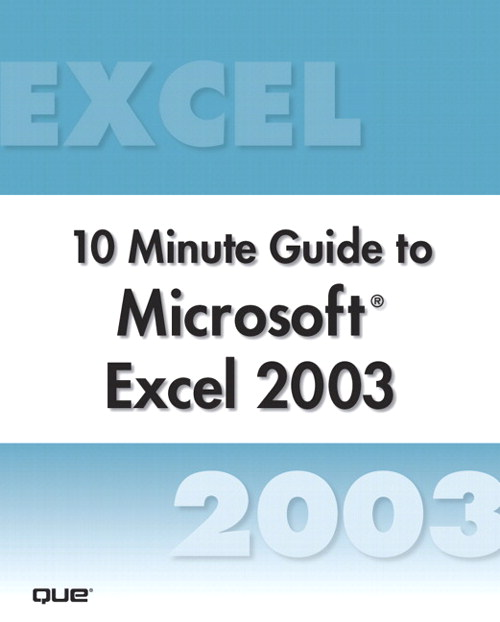 Microsoft Excel 2003 10 Minute Guide (Secure PDF eBook)