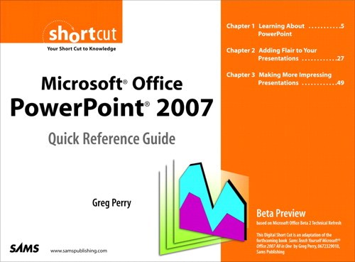 Microsoft Office PowerPoint 2007 Quick Reference Guide: Beta Preview (Digital Short Cut)