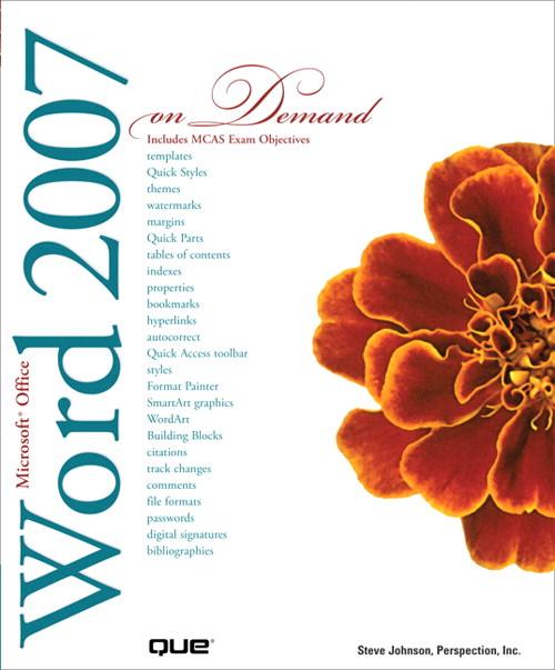 Microsoft Office Word 2007 On Demand | Informit