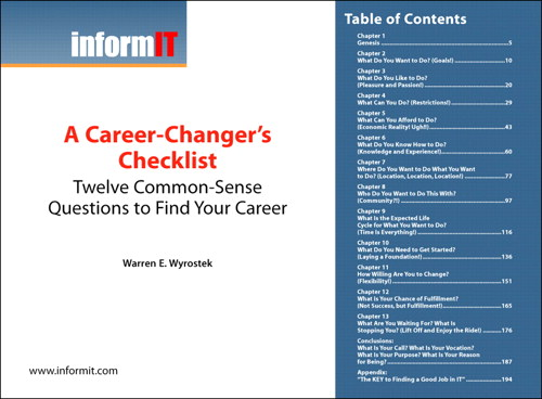 Career-Changer's Checklist: Twelve Common-Sense Questions to Find Your Career (Digital Short Cut)