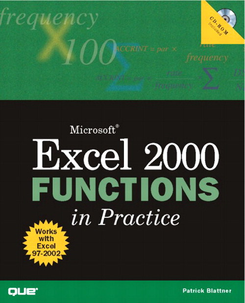 Microsoft Excel 2000 Functions in Practice
