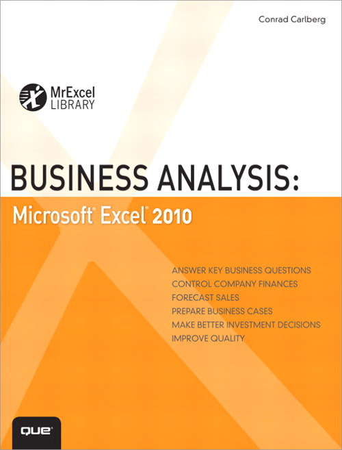 Business Analysis Microsoft Excel   Informit