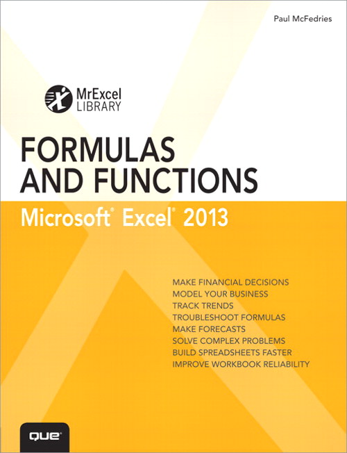 Excel 2013 Formulas and Functions