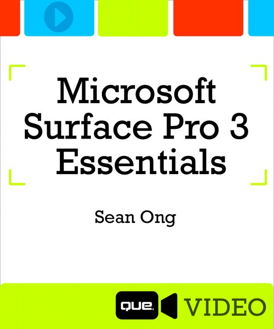 Microsoft Surface Pro 3 Essentials (Que Video), Downloadable Video