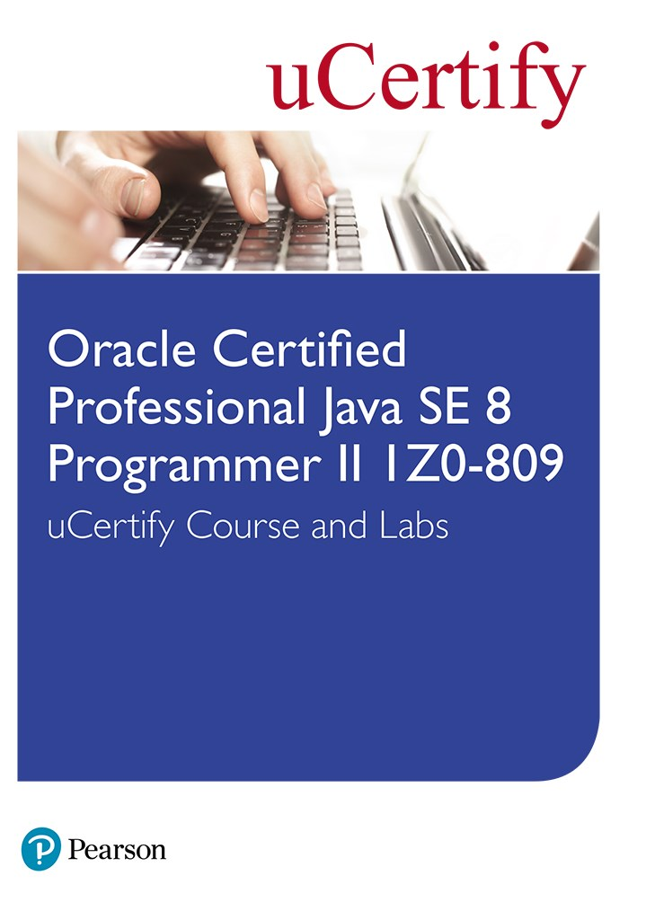 Oracle Certified Professional  Java SE 8 Programmer II 1Z0-809 uCertify Course and Labs Student Access Card
