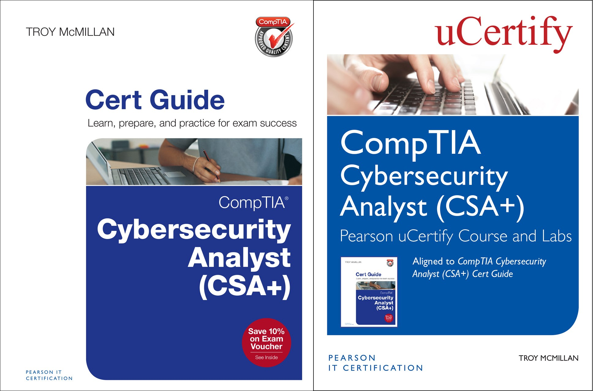 CompTIA Cybersecurity Analyst (CSA+) Pearson uCertify Course and Labs and Textbook Bundle