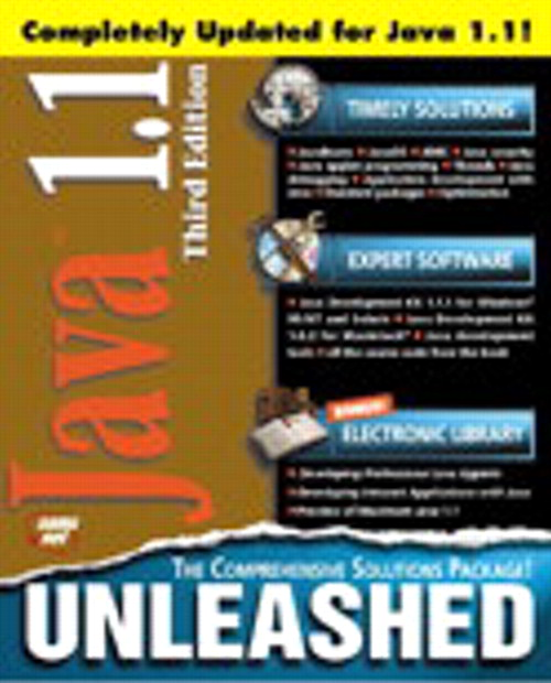 Java 1.1 Unleashed, Third Edition, 3rd Edition