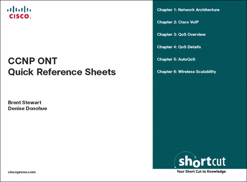 CCNP ONT Quick Reference Sheets: Exam 642-845 (Digital Short Cut)