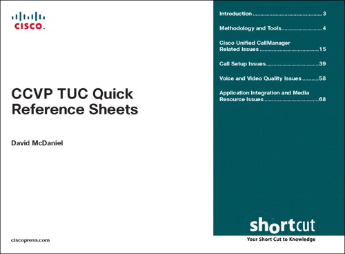 CCVP TUC Quick Reference Sheets