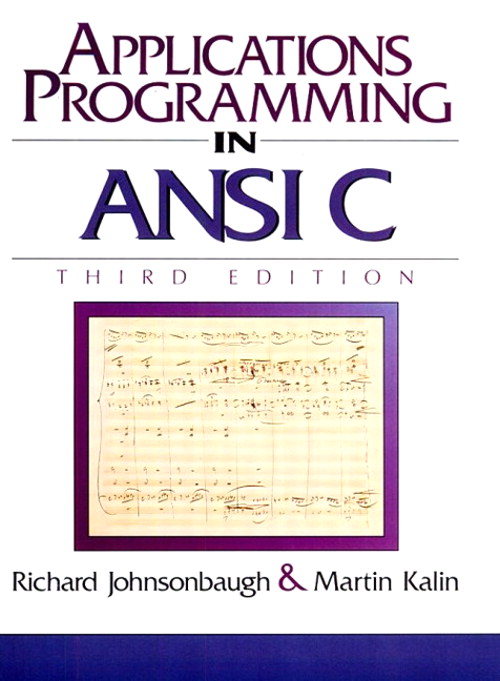 Applications Programming in ANSI C, 3rd Edition