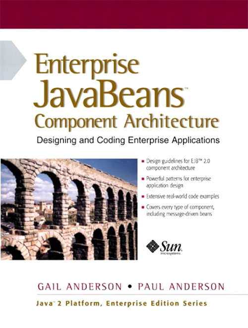 Enterprise JavaBeans Component Architecture: Designing and Coding Enterprise Applications