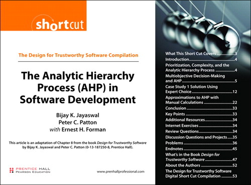 Analytic Hierarchy Process (AHP) in Software Development (Digital Short Cut), The