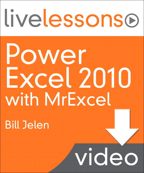 Power Excel 2010 with MrExcel LiveLessons: Lesson 8 Charting and SmartArt