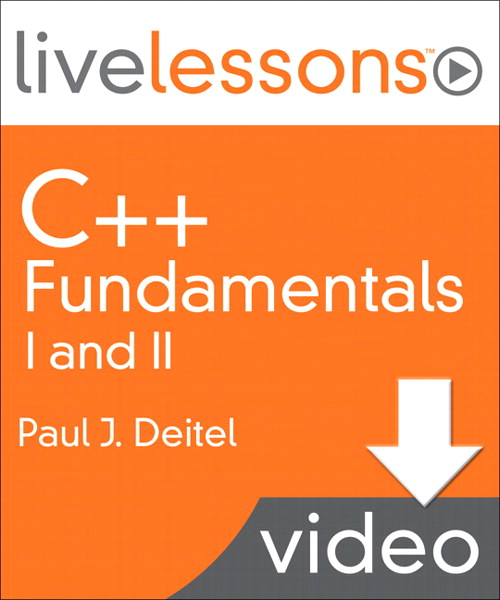 C++ Fundamentals I and II LiveLessons (Video Training): Lesson 8: Classes: A Deeper Look: Part 1, Downloadable Version
